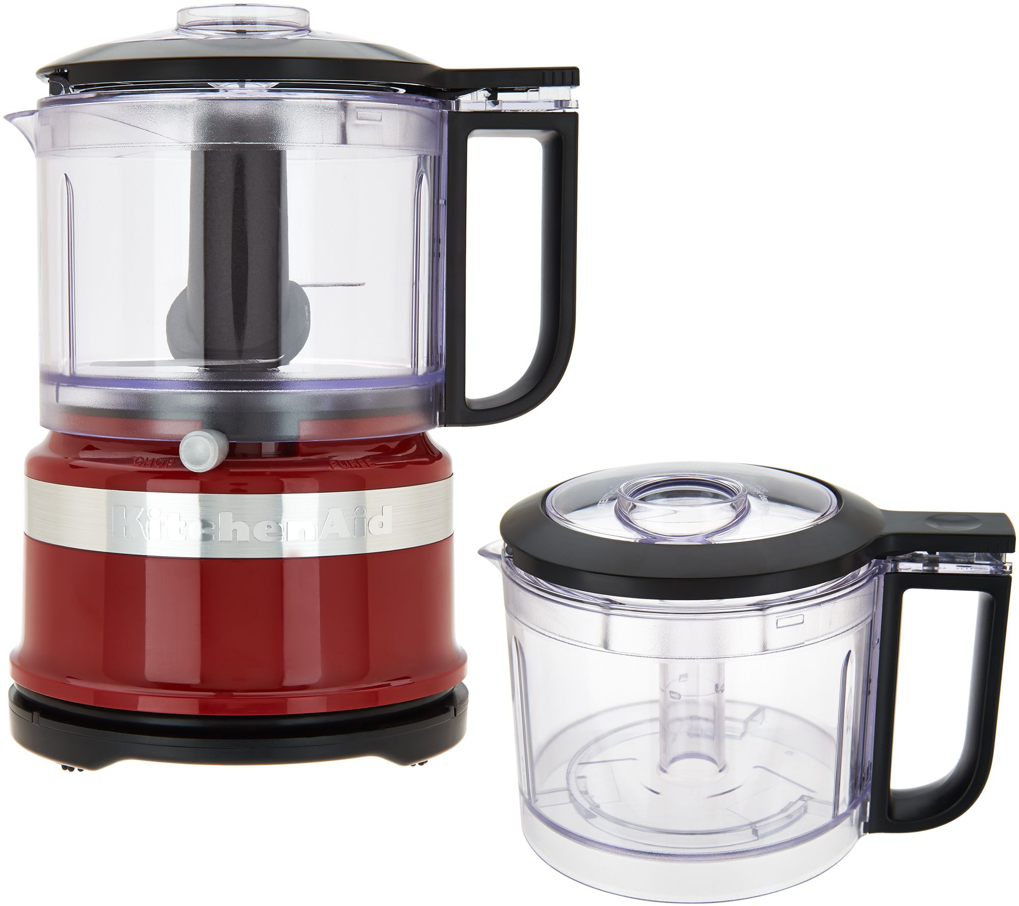 Kitchenaid 3 5 Cup One Touch 2 Speed Chopper With Extra Bowl Qvc Com