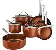 As Is Cooks Essentials 10-pc Porcelain Enamel Cookware Set - K307787