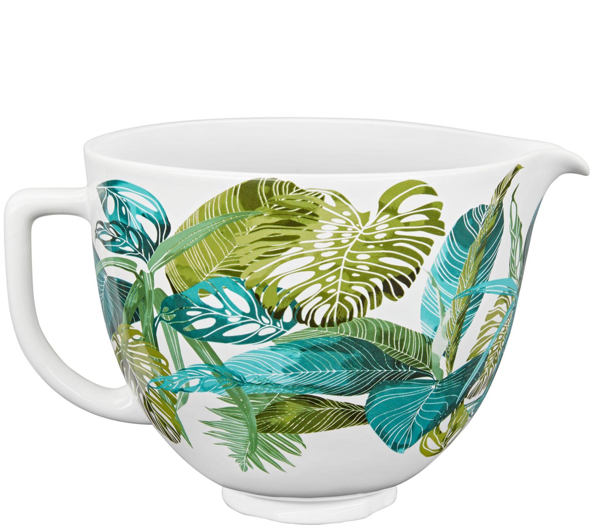 Kitchenaid 5 Quart Ceramic Patterned Bowl Tropical Floral