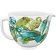 KitchenAid 5-Quart Ceramic Patterned Bowl- Tropical Floral - K377789