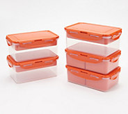 Lock & Lock 5 Piece Rectangle Divider Set - K46789
