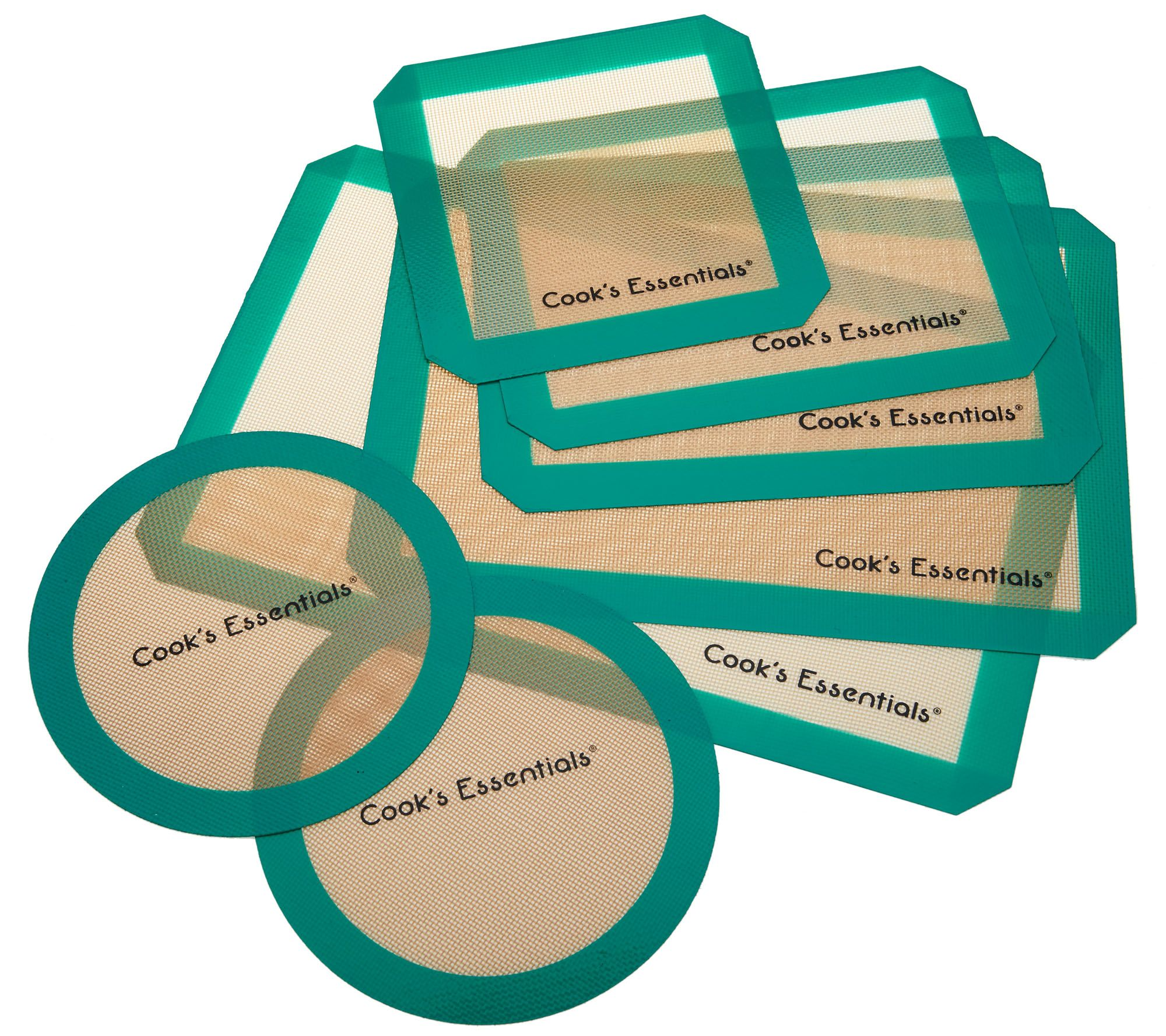 Cook\'s Essentials 7-Piece Silicone Baking Mat Set - Page 1 — QVC.com