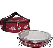 Temp-tations Floral Lace Pie Plate with Tote - K45990