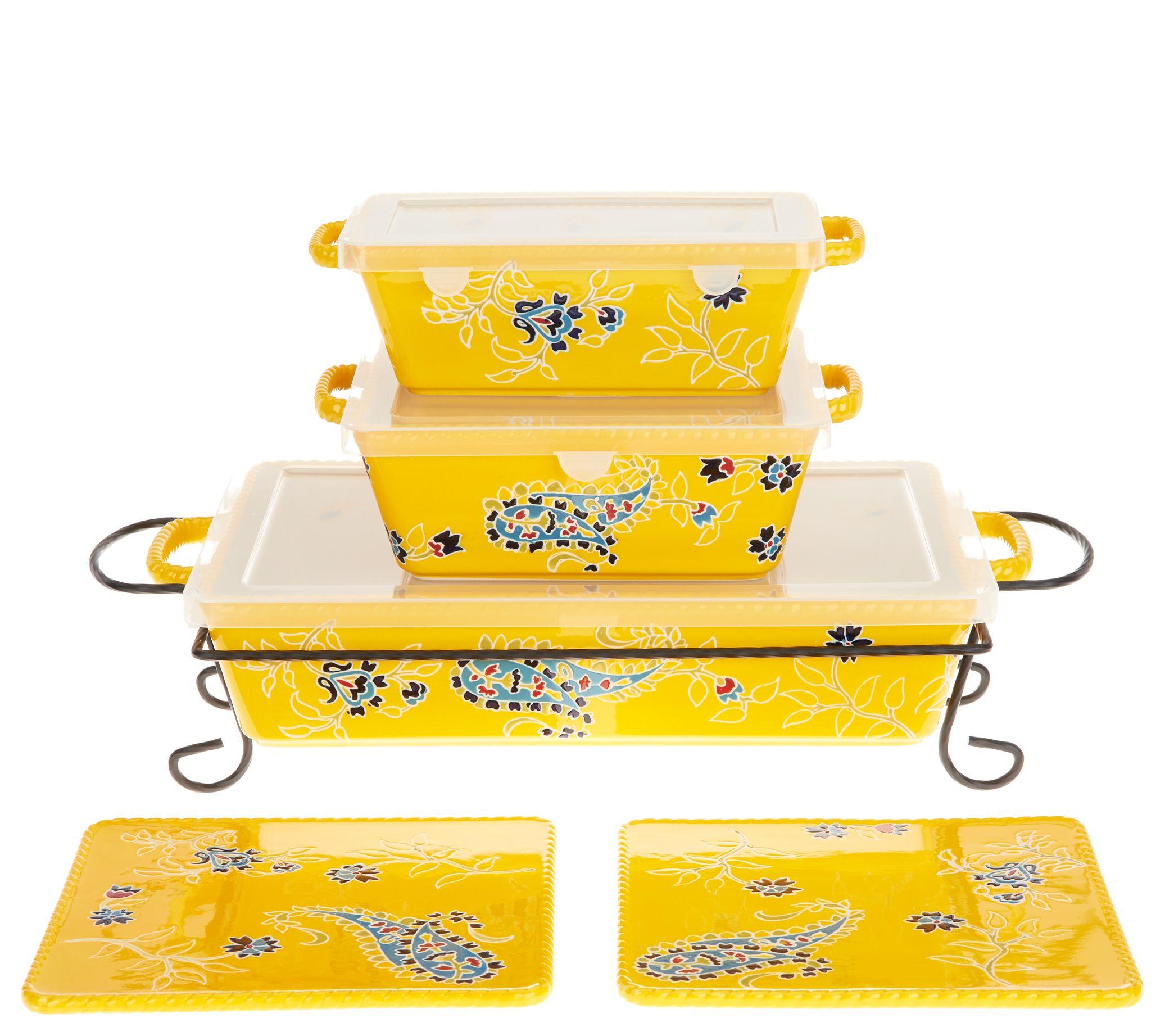 Valerie Bertinelli 6 Piece Bake Serve Set Qvc Com