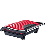 Chef Buddy Panini Press Indoor Grill w/ Nonstick Plates - Red - K374791