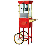Red Matinee Movie 8-oz Antique-Style Popcorn Machine and Cart - K131892