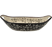 Temp-tations Floral Lace 15 x 7 Oval Centerpiece Bowl - K43792
