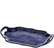 Temp-tations Floral Lace Scalloped Tray with Handles - K43794