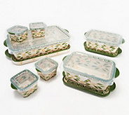 Temp-tations Old World 11 x 7 10-Pc Nesting Bake Set - K48394