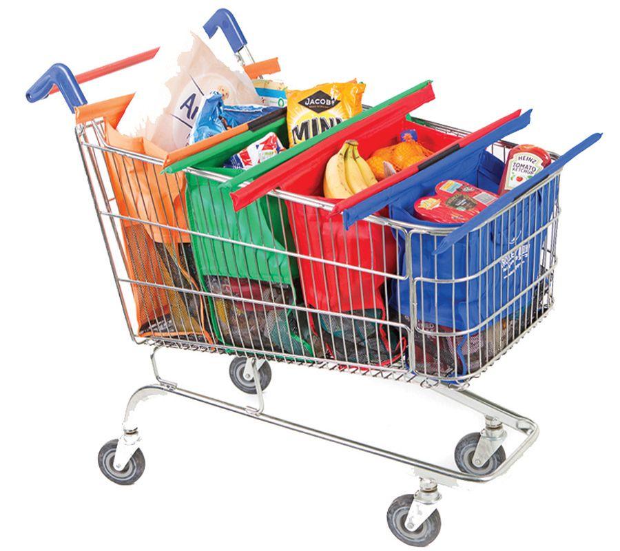 Trolley Bags Reusable Grocery Cart Wide Original Shopping Bag — QVC com