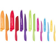 Classic Cuisine 14-Piece Multicolor Knife Set with Sheaths - K378195