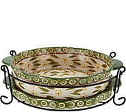 Temp-tations Old World 9 Pie Plate with Lid-it & Rack - K45995