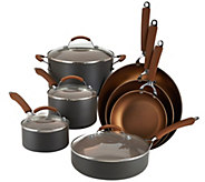 CooksEssentials Hard-Anodized 11-Piece Color Nonstick Cookware Set - K41896