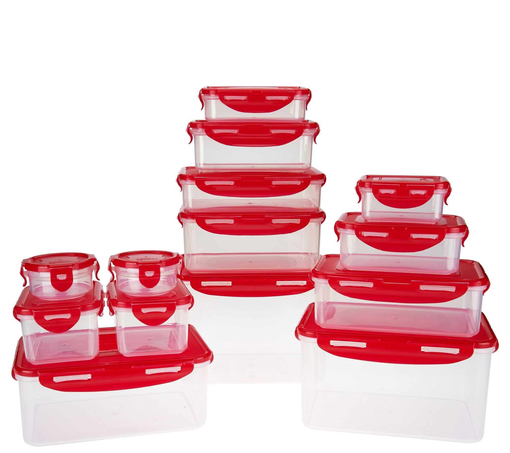 Lock U0026 Lock 14pc Nestable Storage Set W/ 3 Handled Lids   Page 1 U2014 QVC.com