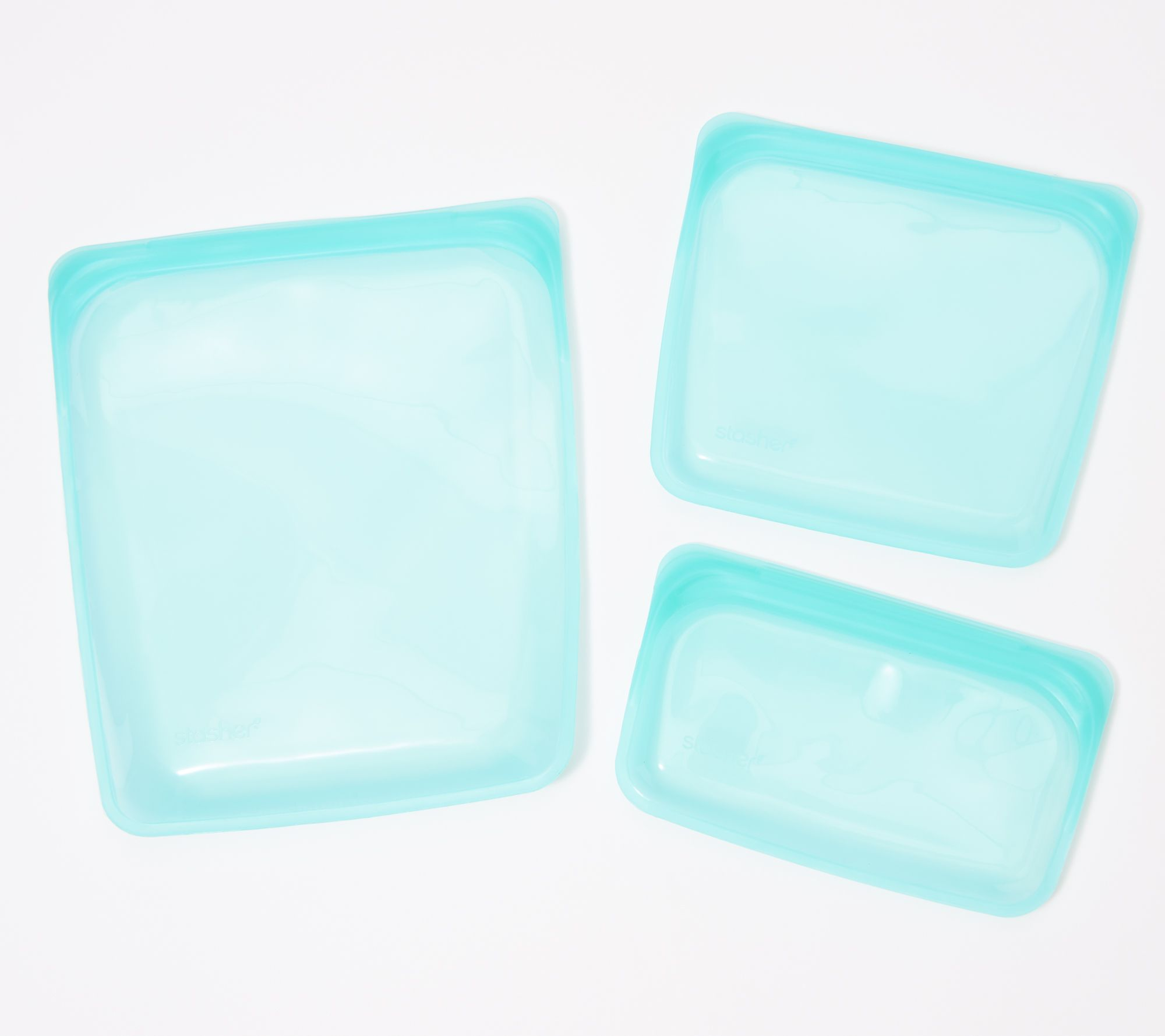 Stasher Set Of 3 Core Reusable Silicone Storage Bags Qvc