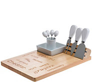 Denmark 9-Piece Wood and Porcelain Cheese Set - K377597