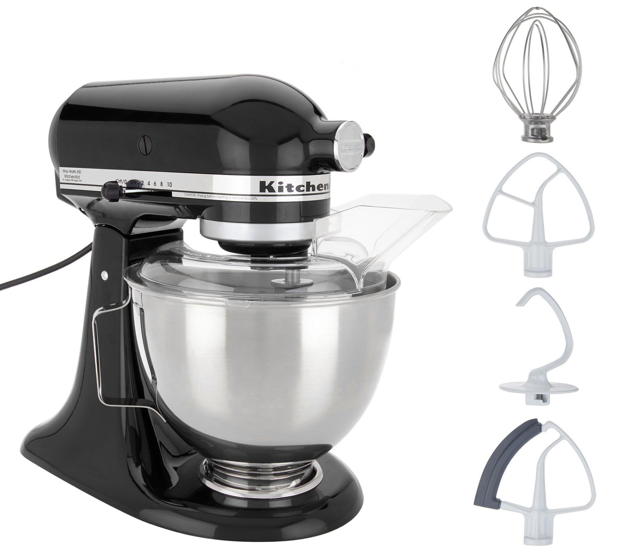 KitchenAid 4.5-qt 300W Tilt-Head Stand Mixer with Flex Edge — QVC.com