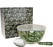 Temp-tations Floral Lace 4qt Bowl with Serving Spoon - K46098