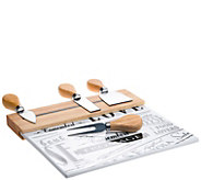 Denmark 5-Piece Ceramic and Wood Cheese Set - K377599