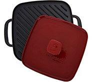 Emeril 10 Cast Iron Pre-Seasoned Griddle with Grill Press - K45299