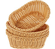 Lock & Lock Set of 3 Oval Baskets - K45699