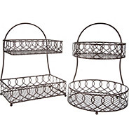 Gourmet Basics by Mikasa Set of 2 Round & Square Baskets - K47099