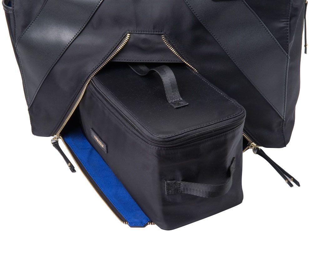 0354b8b9c MinkeeBlue Multi-Function Travel/Work Tote Bag - Page 1 — QVC.com