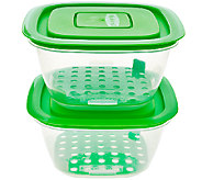 Set of 2 Flip It Fresh Salad Containers - L41364