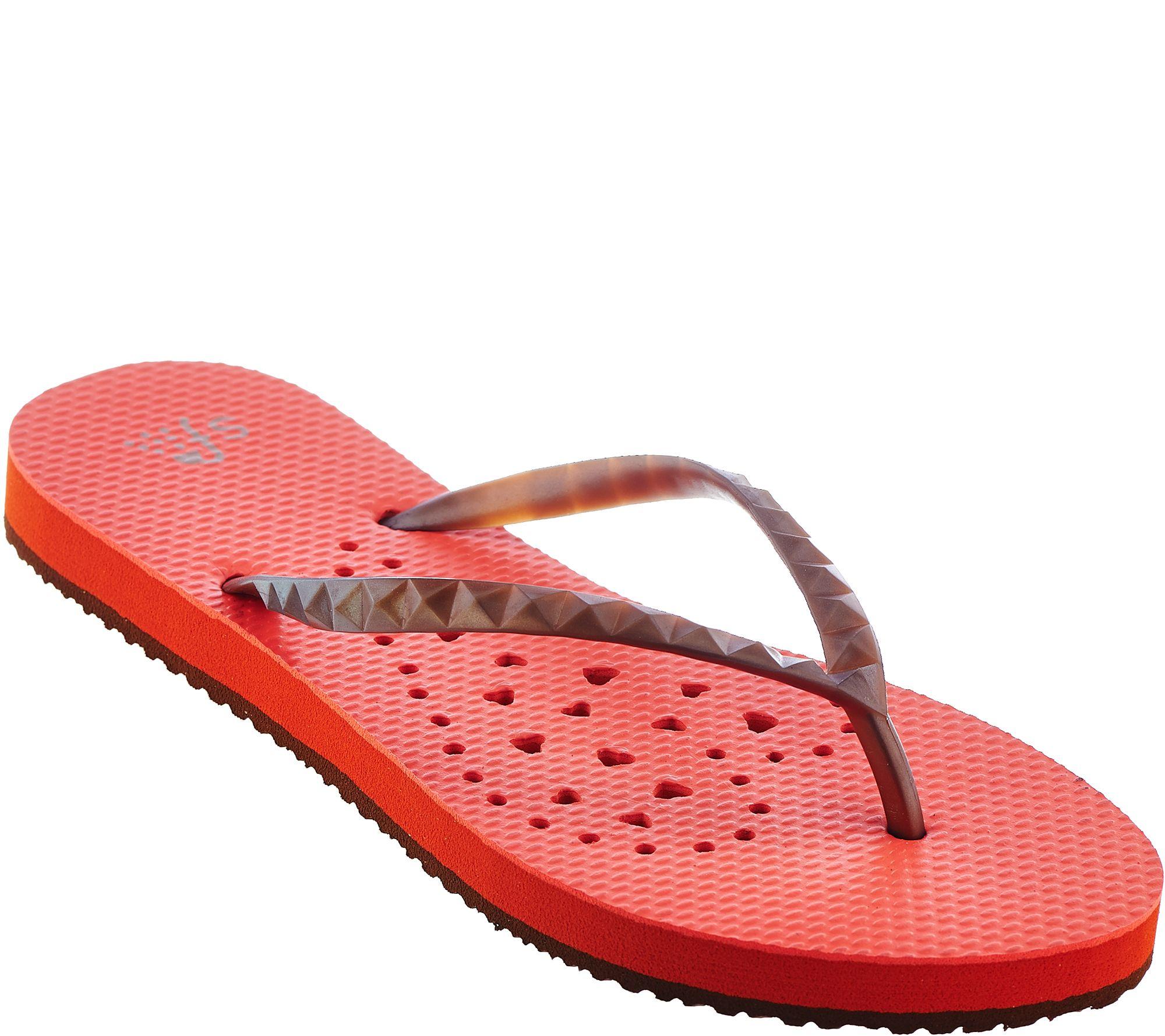 29055cde84611 Showaflops Flip Flops Shower Sandal - Page 1 — QVC.com