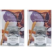 Saltopia Set of 2 Magma-Licious Coconut-Infused Sea Salts - M116202