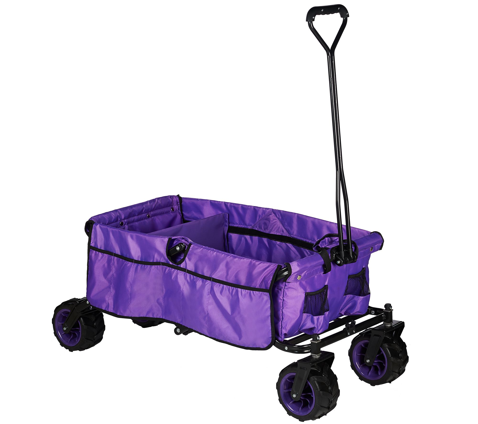 Creative Outdoor All-Terrain Folding Wagon with Divider - Page 1 — QVC.com 54ab1c6c16d2
