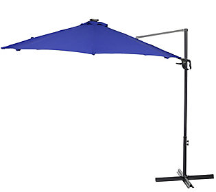 ATLeisure 10' Starlight Solar Offset Umbrellaw/ Remote