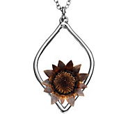 The Blessing Flower Balanced Sterling Silver 17 Necklace - M54107