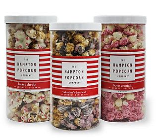 Hampton Popcorn Set of 3 Popcorn Containers