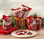 SH11/5 Thompson Chocolate (5) 10-oz Bags Foil Wrapped Santa Chocolate - M59108
