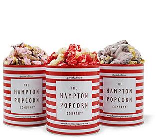 Hampton Popcorn Set of 3 Popcorn Tins