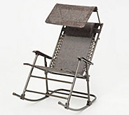 Bliss Hammocks Foldable Rocking Chair with Headrest and Canopy - M61012