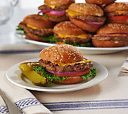 Charleston Gourmet Burger (12) 6 oz. Marinated Cheeseburgers - M54713