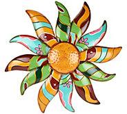 Plow & Hearth Metal Talavera Flower Wall Art - M52314