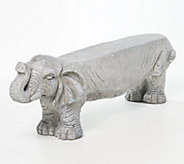 Barbara King Faux Stone 46 Long Elephant Garden Bench - M62614