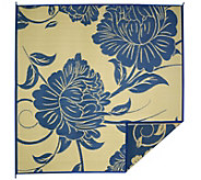 Barbara King Floral Dance 8x8 Reversible Outdoor Mat - M51716