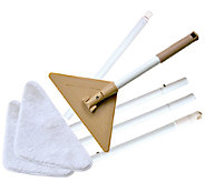 Don Asletts Glass and Bath Mop with 3 Microfiber Pads - M114817