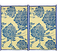 Barbara King Floral Dance Set of 2 3x5 Reversible Outdoor Mats - M51717