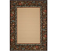 Veranda Living 7 x 10 Indoor/Outdoor Floral Border Rug - M55717
