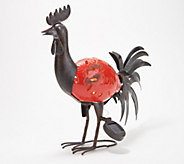 Solar Ceramic & Metal Animal Garden Statue - M60317
