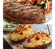 Kansas City (8) 8-oz Sirloin Steaks & 8 CheddarBacon Potatoes - M116018