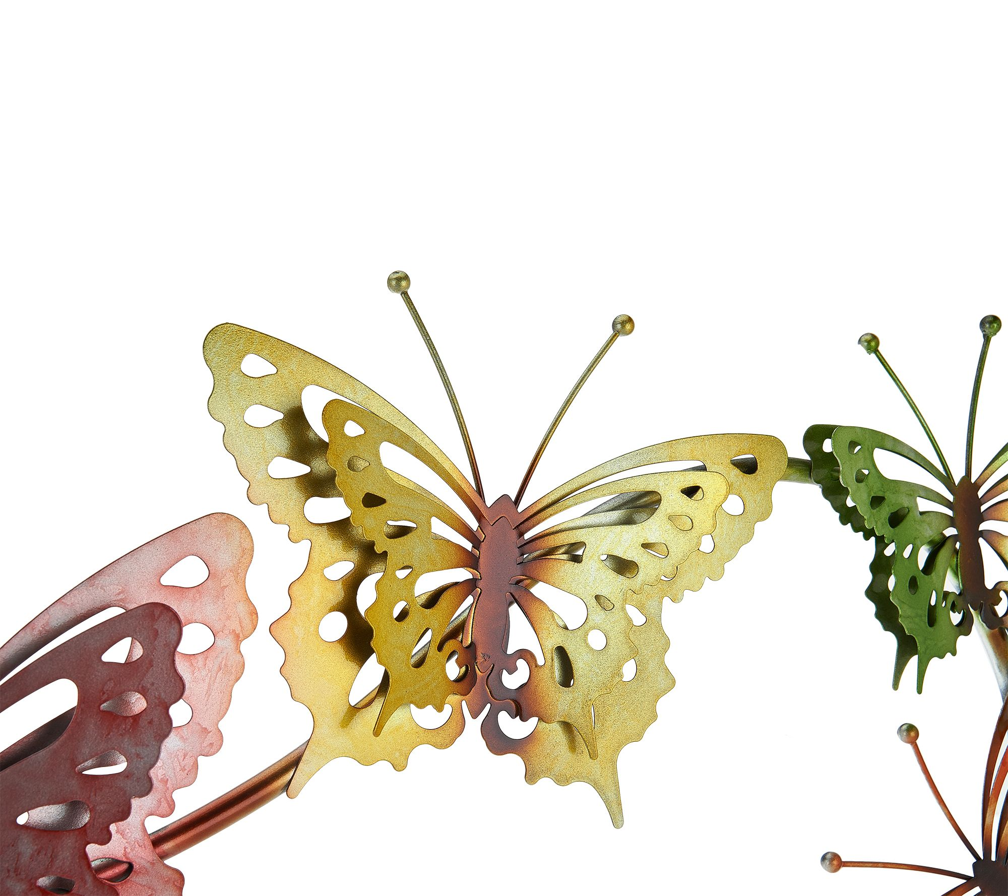 d85b66682161 Plow   Hearth Watercolor Butterfly Wall Art - Page 1 — QVC.com