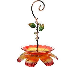Hanging Flower Bird Feeder by Evergreen (M55819) photo