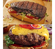 Kansas City 12 4.5-oz Steakburgers & 12 4-oz Sandwich Steaks - M116020