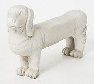 Barbara King Faux Stone 46 Long Dog Garden Bench - M60623